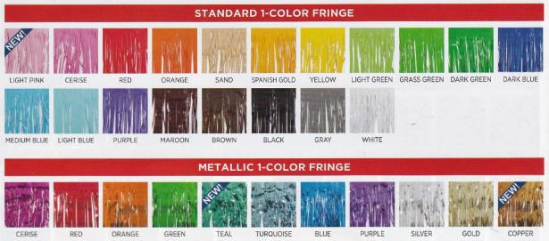 1 color fringe