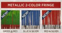 metallic 2 color fringe 2