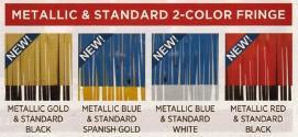 metallic 2 color fringe