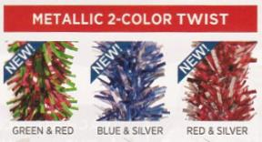 metallic 2 color twist