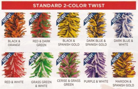 standard 2 color twist